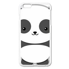 Kawaii Panda Apple iPhone 6 Plus Enamel White Case