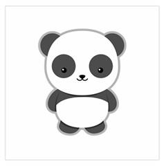 Kawaii Panda Large Satin Scarf (Square)