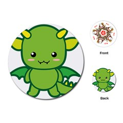 Kawaii Dragon Playing Cards (Round)