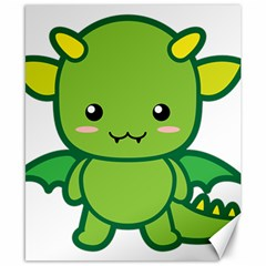 Kawaii Dragon Canvas 8  x 10
