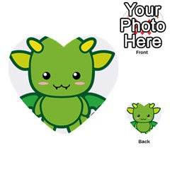 Kawaii Dragon Multi Purpose Cards (heart)