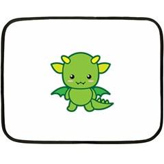 Kawaii Dragon Fleece Blanket (mini)