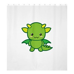 Kawaii Dragon Shower Curtain 66  X 72  (large)