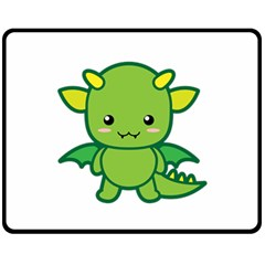 Kawaii Dragon Fleece Blanket (Medium)