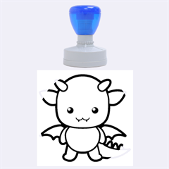 Kawaii Dragon Rubber Round Stamps (large)