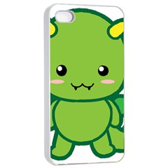 Kawaii Dragon Apple Iphone 4/4s Seamless Case (white)