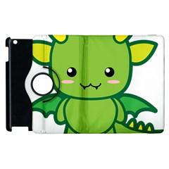 Kawaii Dragon Apple iPad 2 Flip 360 Case