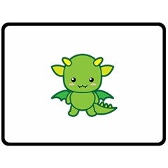 Kawaii Dragon Double Sided Fleece Blanket (Large)