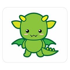 Kawaii Dragon Double Sided Flano Blanket (Small)