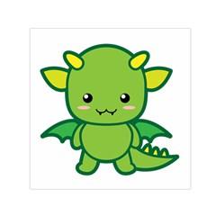 Kawaii Dragon Small Satin Scarf (Square)