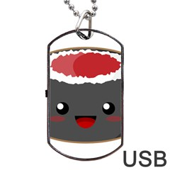 Kawaii Sushi Dog Tag USB Flash (One Side)