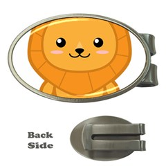 Kawaii Lion Money Clips (Oval)