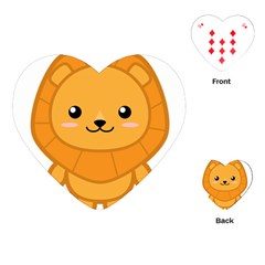 Kawaii Lion Playing Cards (Heart)