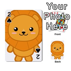 Kawaii Lion Playing Cards 54 Designs