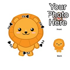Kawaii Lion Playing Cards 54 (Round)