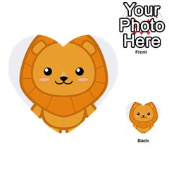 Kawaii Lion Multi-purpose Cards (Heart)