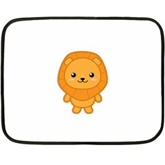 Kawaii Lion Fleece Blanket (mini)
