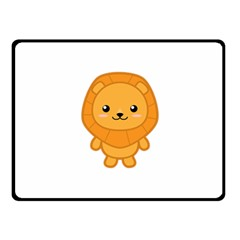 Kawaii Lion Fleece Blanket (Small)