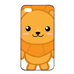 Kawaii Lion Apple Iphone 4/4s Seamless Case (black)