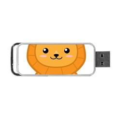Kawaii Lion Portable Usb Flash (two Sides)