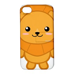 Kawaii Lion Apple iPhone 4/4S Hardshell Case with Stand