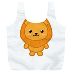 Kawaii Lion Full Print Recycle Bags (L)