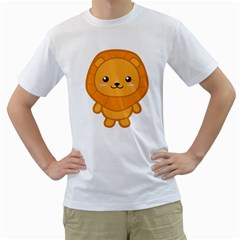 Kawaii Lion Men s T-Shirt (White)