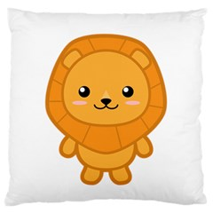 Kawaii Lion Standard Flano Cushion Cases (Two Sides)
