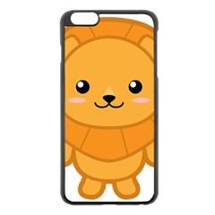 Kawaii Lion Apple iPhone 6 Plus Black Enamel Case