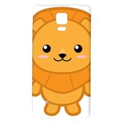 Kawaii Lion Galaxy Note 4 Back Case