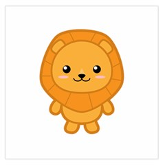 Kawaii Lion Large Satin Scarf (Square)