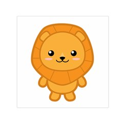 Kawaii Lion Small Satin Scarf (Square)