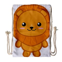 Kawaii Lion Drawstring Bag (Large)