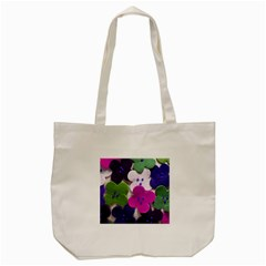 Cotton Flower Buttons  Tote Bag (Cream)