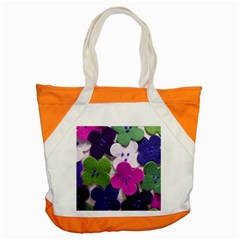 Cotton Flower Buttons  Accent Tote Bag
