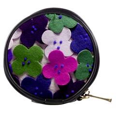Cotton Flower Buttons  Mini Makeup Bags