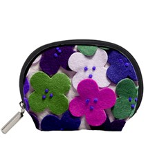 Cotton Flower Buttons  Accessory Pouches (Small)
