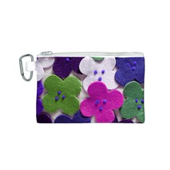 Cotton Flower Buttons  Canvas Cosmetic Bag (S)