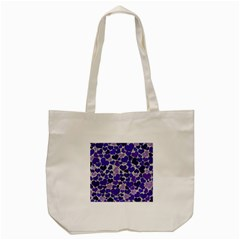 Sparkling Hearts Blue Tote Bag (Cream)