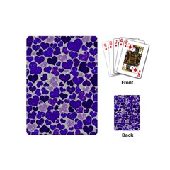 Sparkling Hearts Blue Playing Cards (Mini)