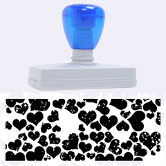 Sparkling Hearts Blue Rubber Address Stamps (XL)