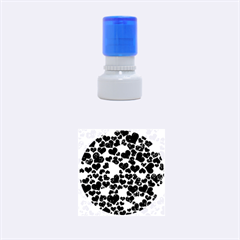 Sparkling Hearts Blue Rubber Round Stamps (Small)