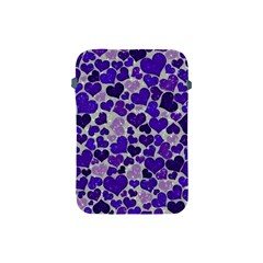 Sparkling Hearts Blue Apple iPad Mini Protective Soft Cases