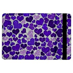 Sparkling Hearts Blue iPad Air Flip