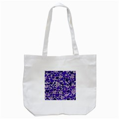 Sparkling Hearts Blue Tote Bag (White)
