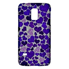 Sparkling Hearts Blue Galaxy S5 Mini
