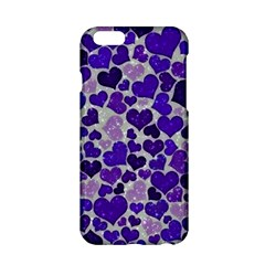 Sparkling Hearts Blue Apple iPhone 6/6S Hardshell Case