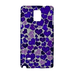 Sparkling Hearts Blue Samsung Galaxy Note 4 Hardshell Case