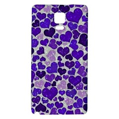 Sparkling Hearts Blue Galaxy Note 4 Back Case