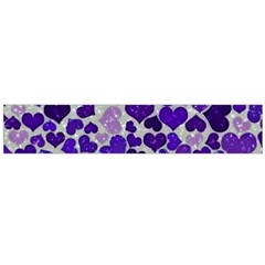 Sparkling Hearts Blue Flano Scarf (Large)